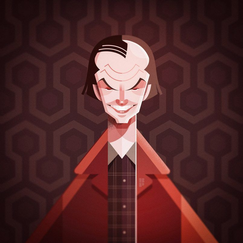 2 illustrated character portrait by ricardo polo