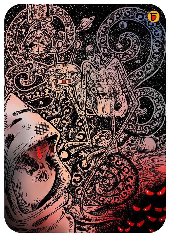 alien ghosts sketch charbak dipta