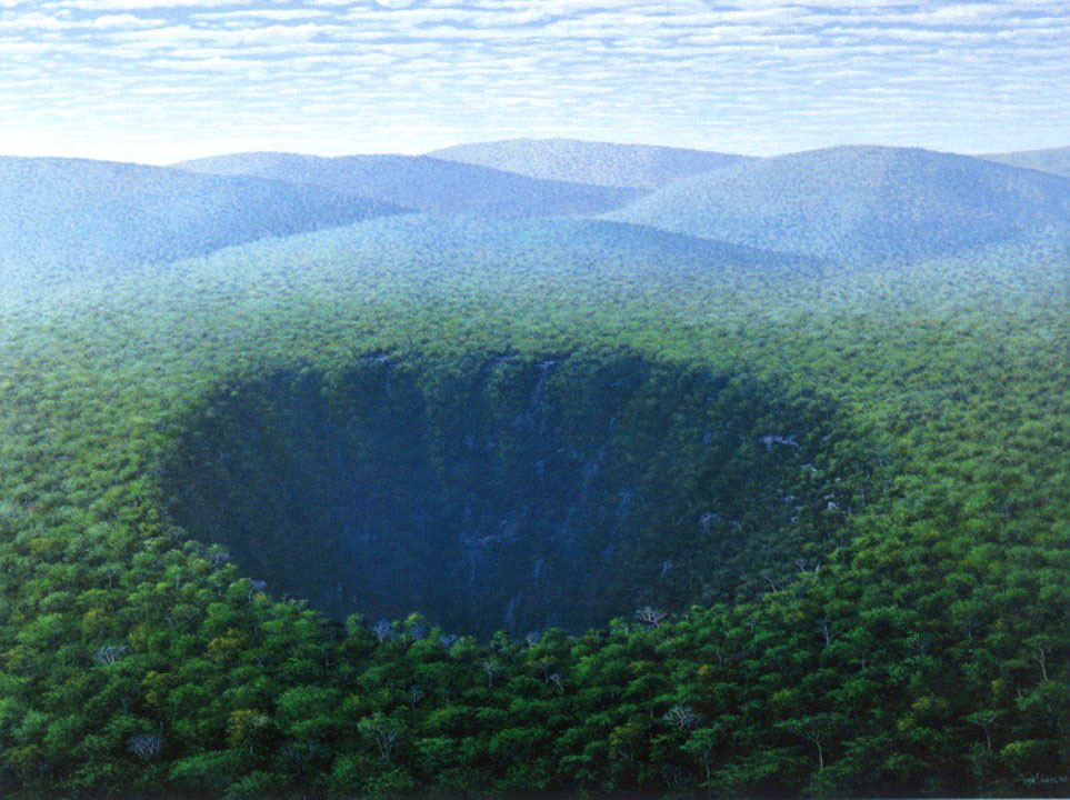 crater oil painting tomás sánchez