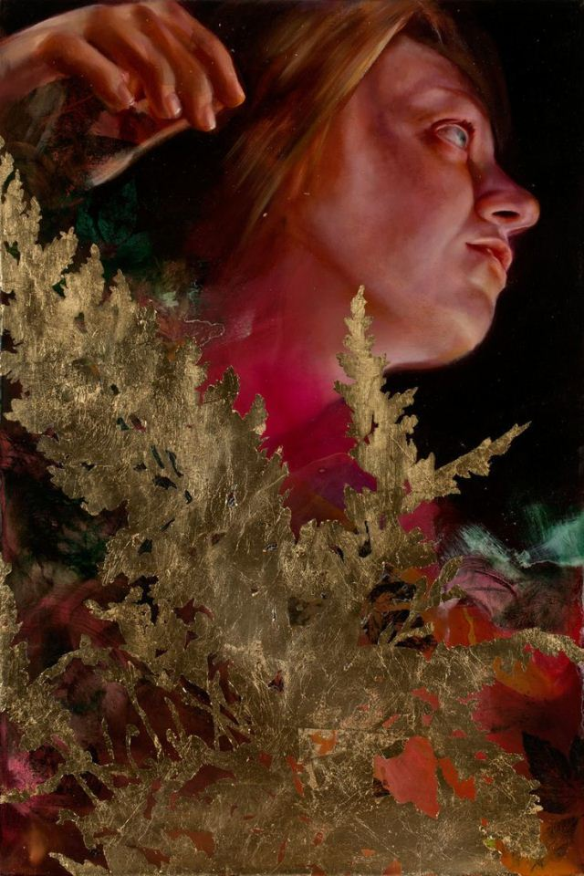 lady oil painting angela