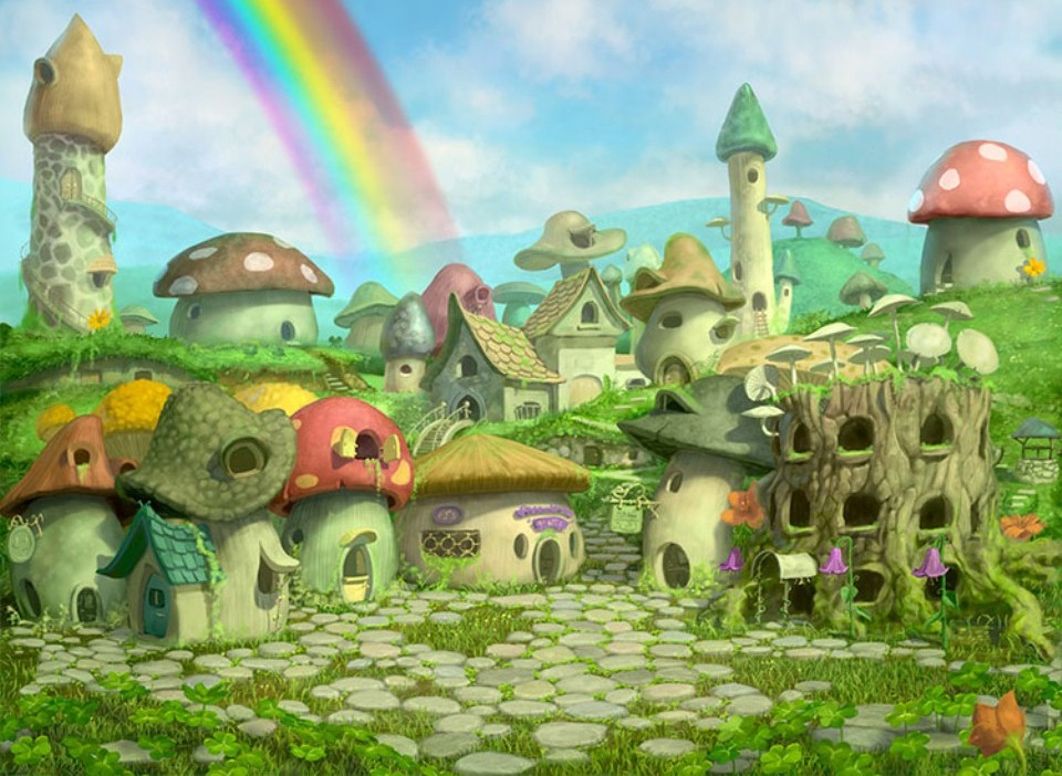 leprechaun village digital art chris beatrice