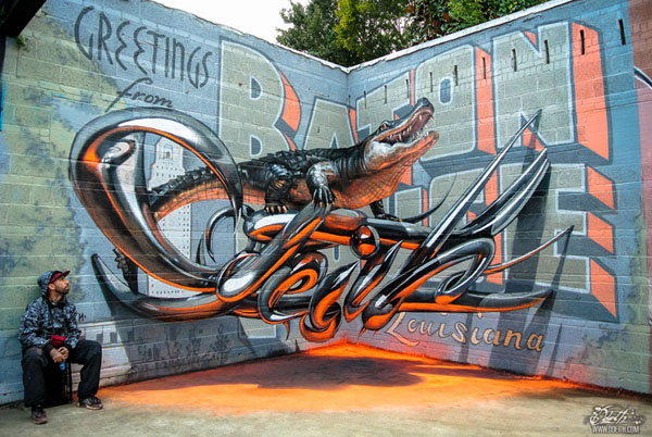 3d street wall art by odeith