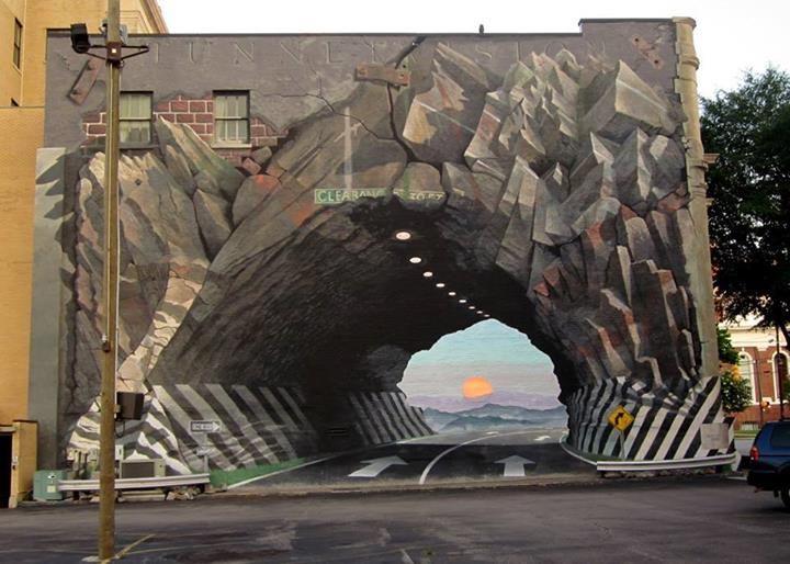 3d street wall art