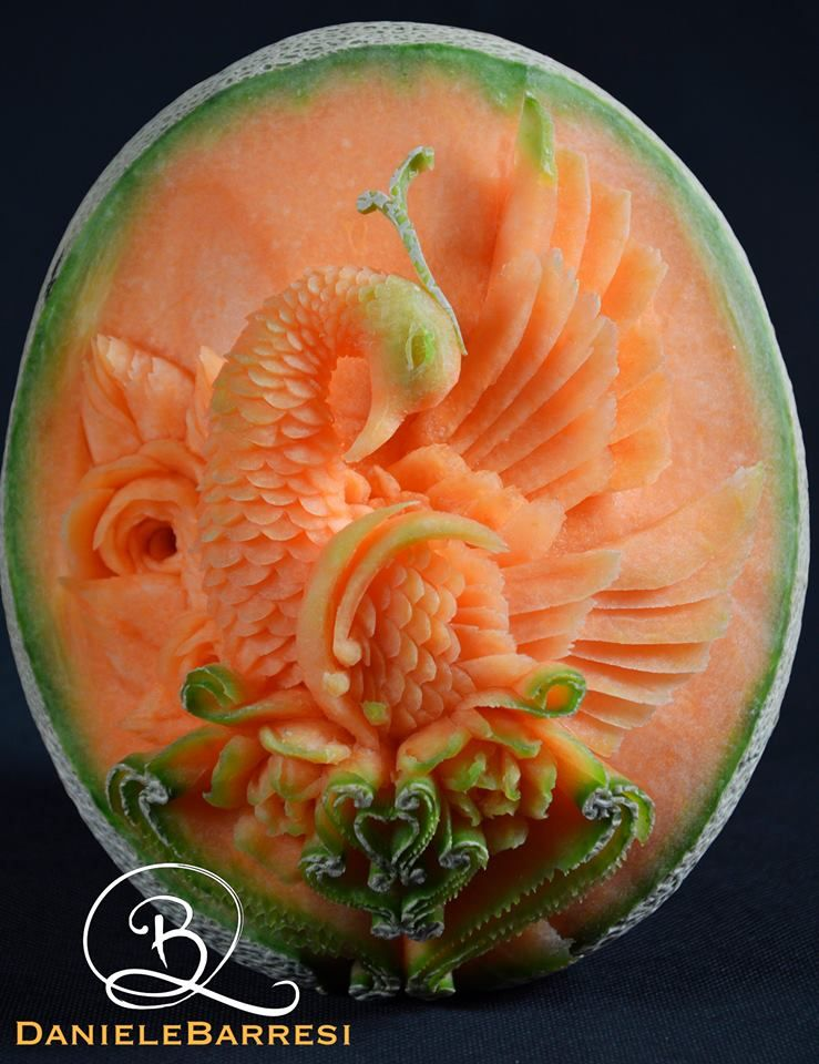 12 beautiful fruit carvings by daniele barresi