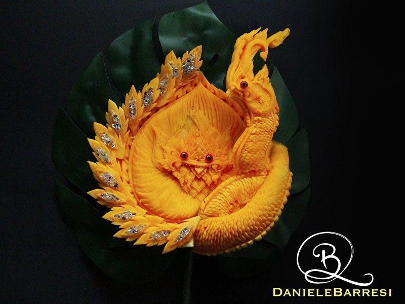 beautiful vegetable carvings by daniele barresi