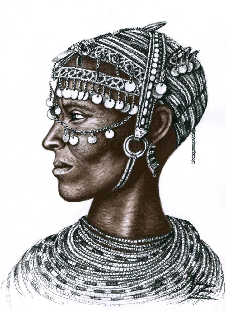 african color pencil drawing nicole