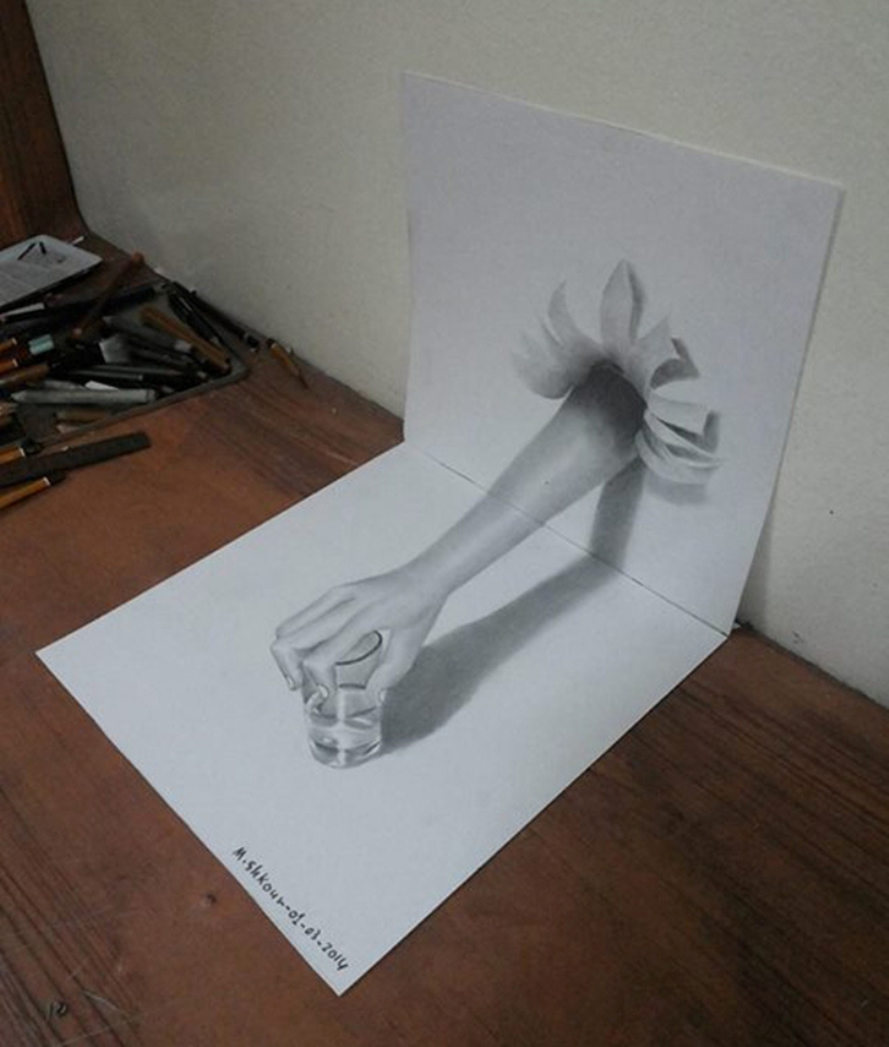 arm 3d pencil drawing md shkour