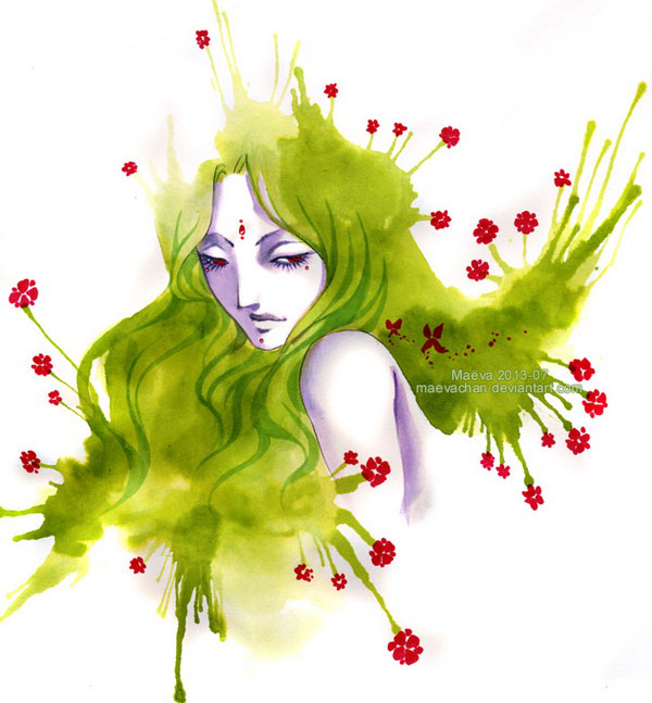 beautiful-lady-watercolor-paintings-maëva