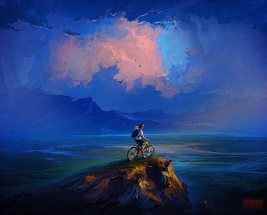 boy digital painting rhads