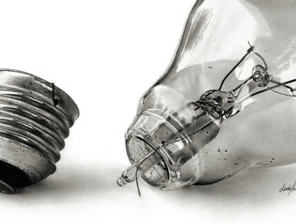 bulb-pencil-drawing-linda-huber