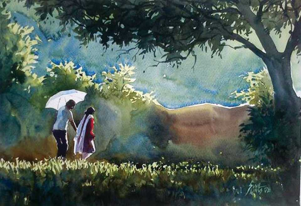 couple-watercolor-painting-sunil