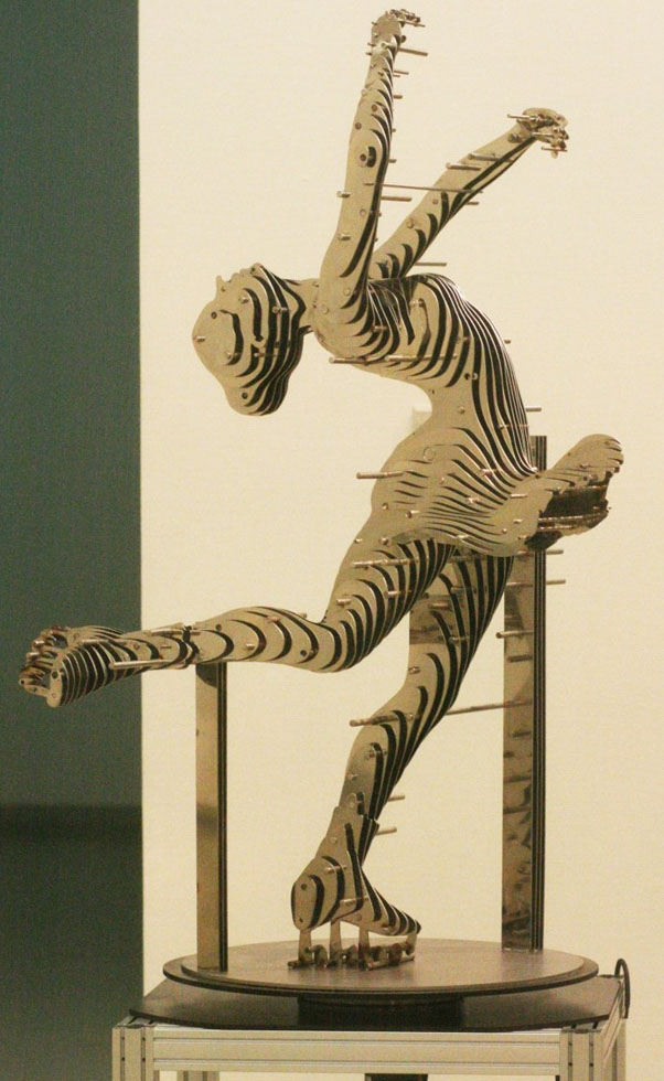 dancing girl metal sculptures chan