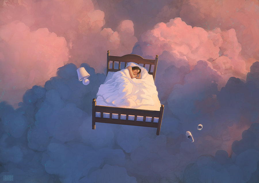 dreaming light digital painting rhads