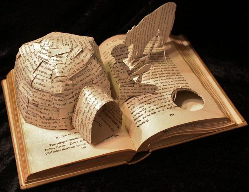 fish book art