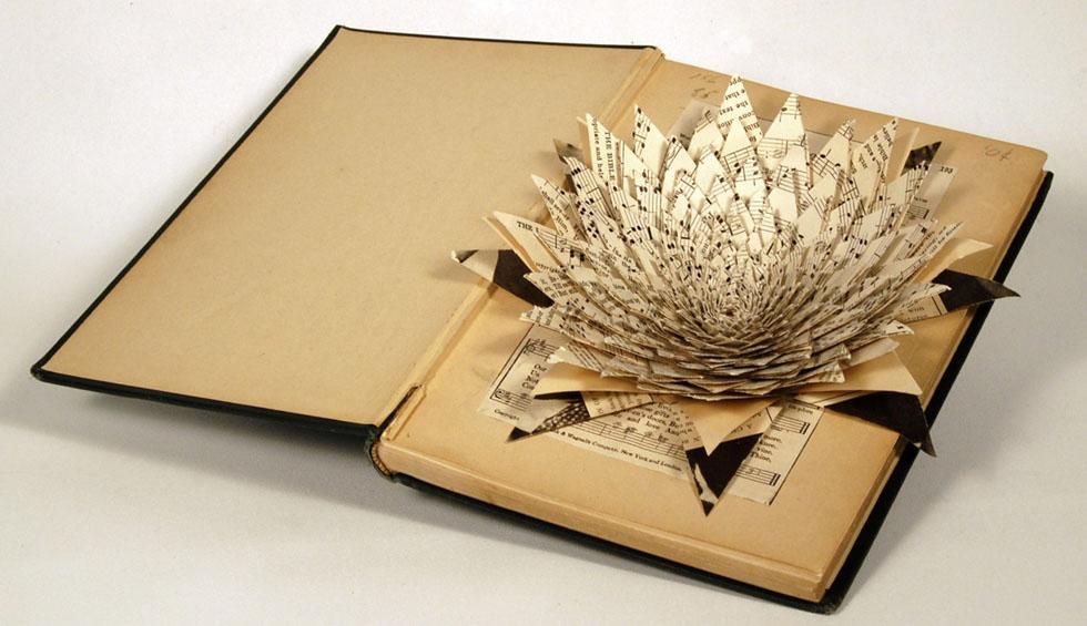 flowers book art