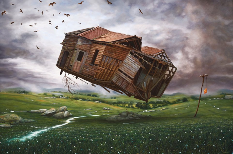 flying house painting richard baxter