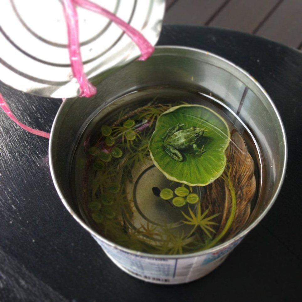 frog layer painting keng lye