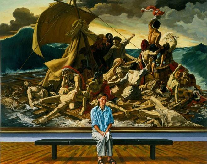 girl sitting portrait oil painting francine