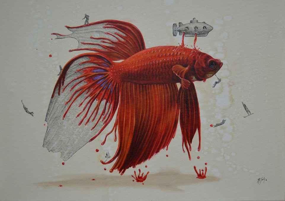 goldfish illustration ricardo solis