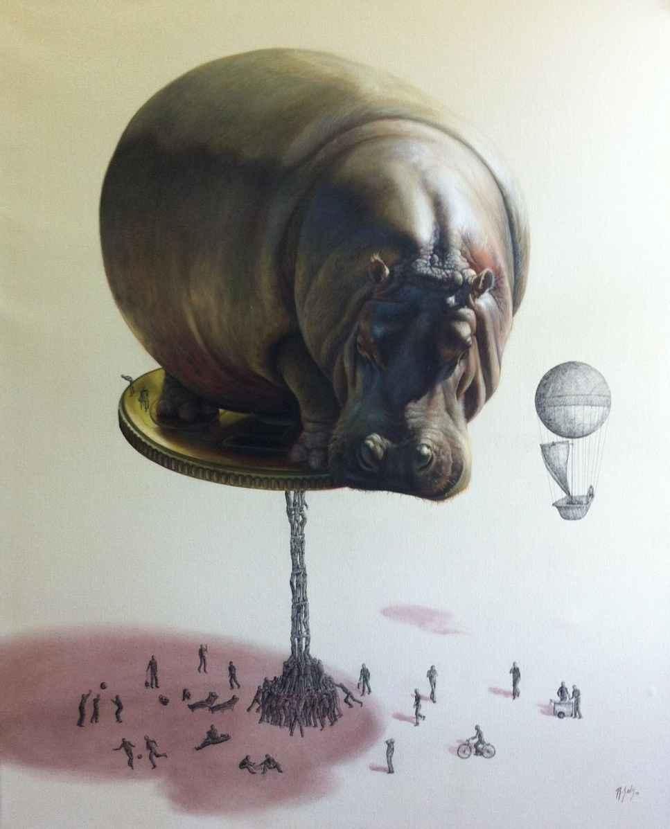hippo illustration ricardo solis