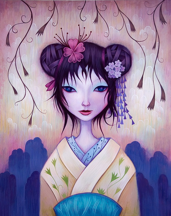 japan girl paintings jeremiah