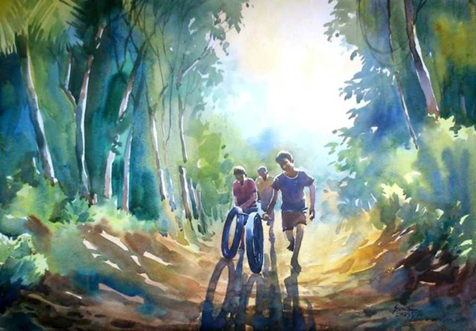 kids-playing-watercolor-painting-sunil