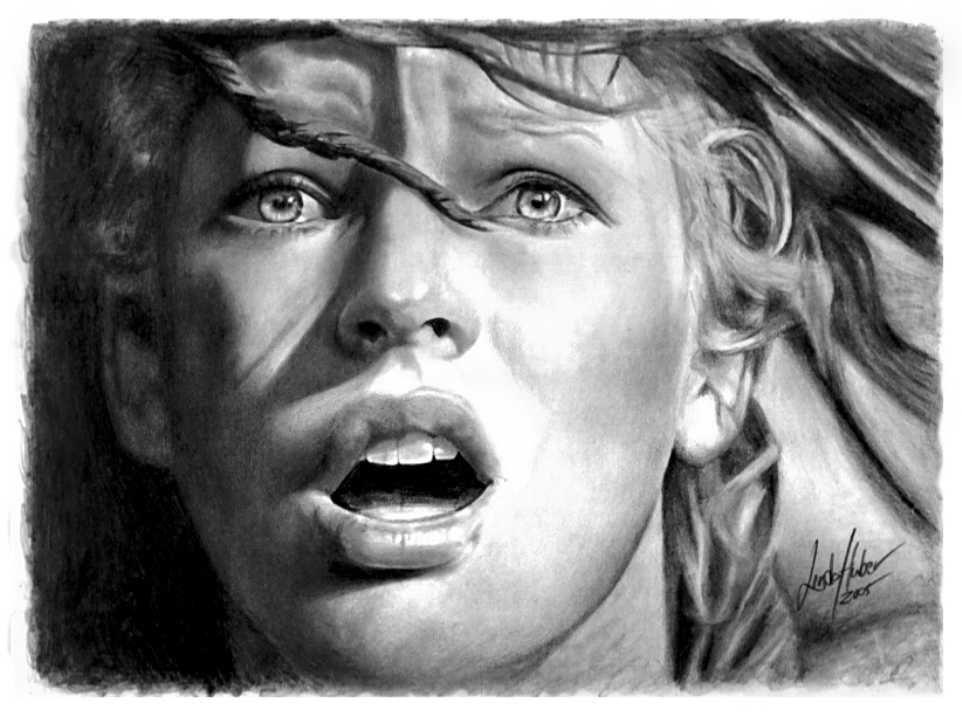 leeloo pencil drawing linda huber