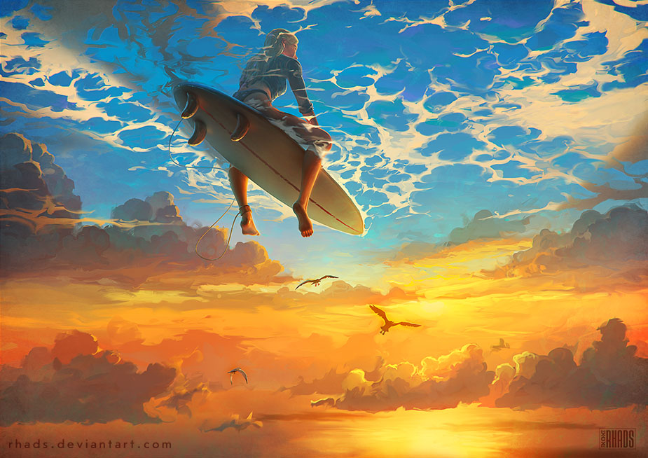 man digital painting rhads