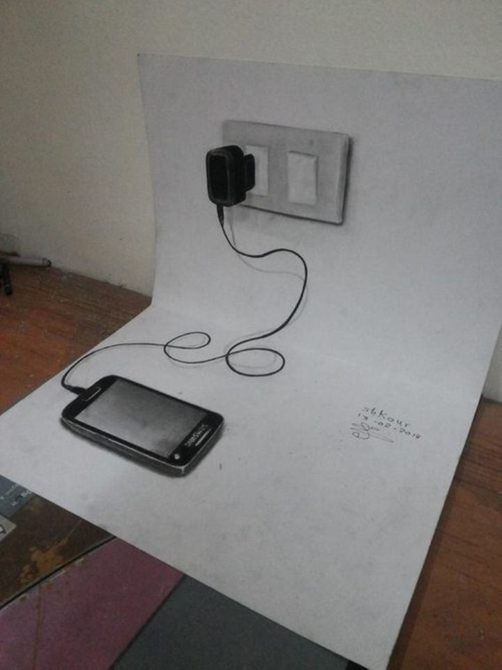 phone 3d pencil drawing md shkour