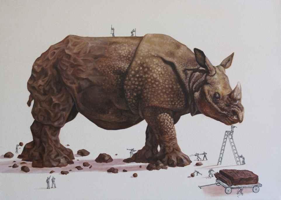 rhino illustration ricardo solis