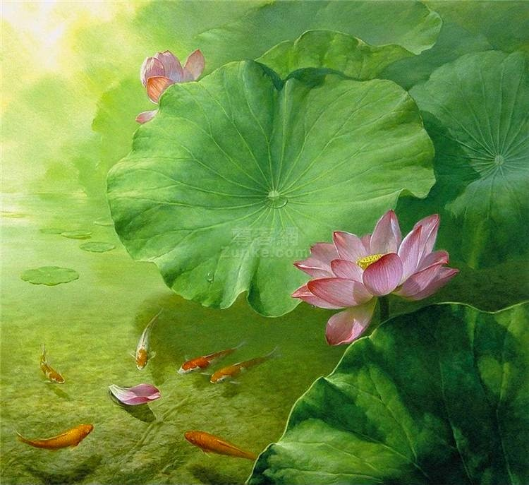 rose lotus painting jiang