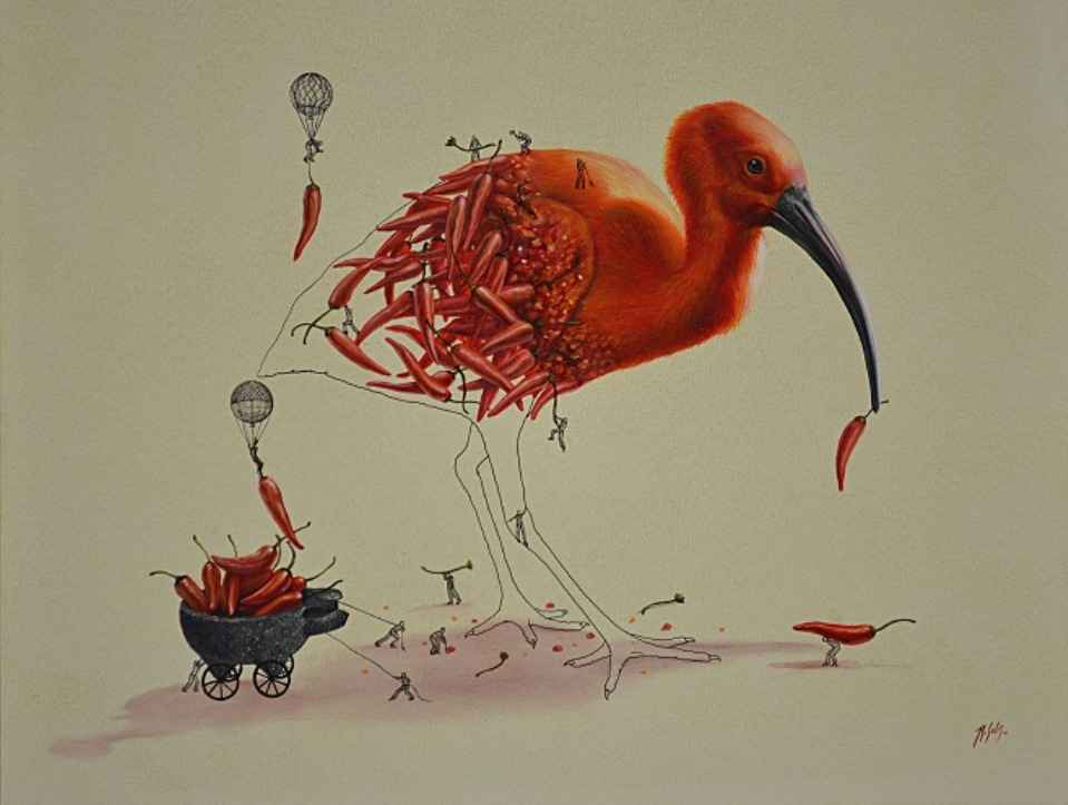stork illustration ricardo solis