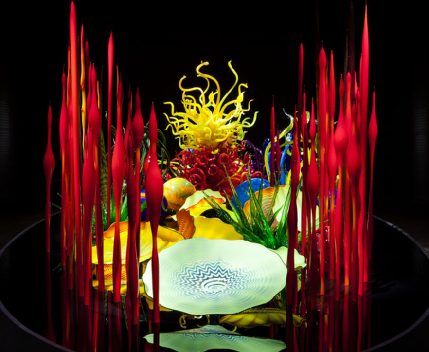 table design architecture installation chihuly
