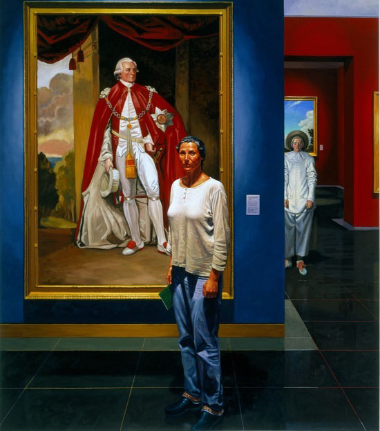 woman portrait oil painting francine