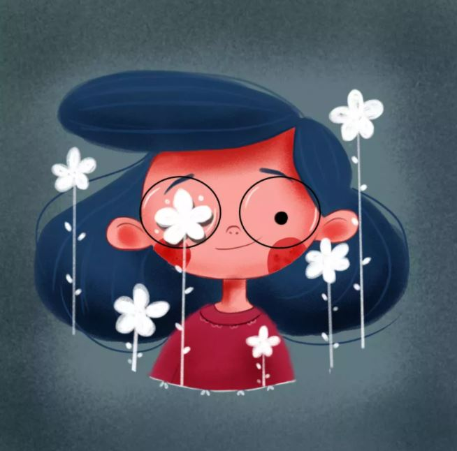digital illustration peekaboo by bhumika jangid