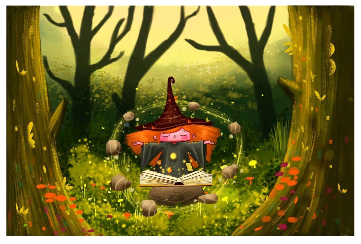 digital illustration witch by bhumika jangid