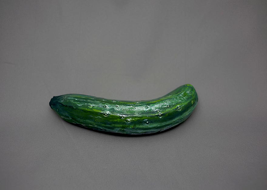 1 realistic illusion painting ideas cucumber hikaru cho