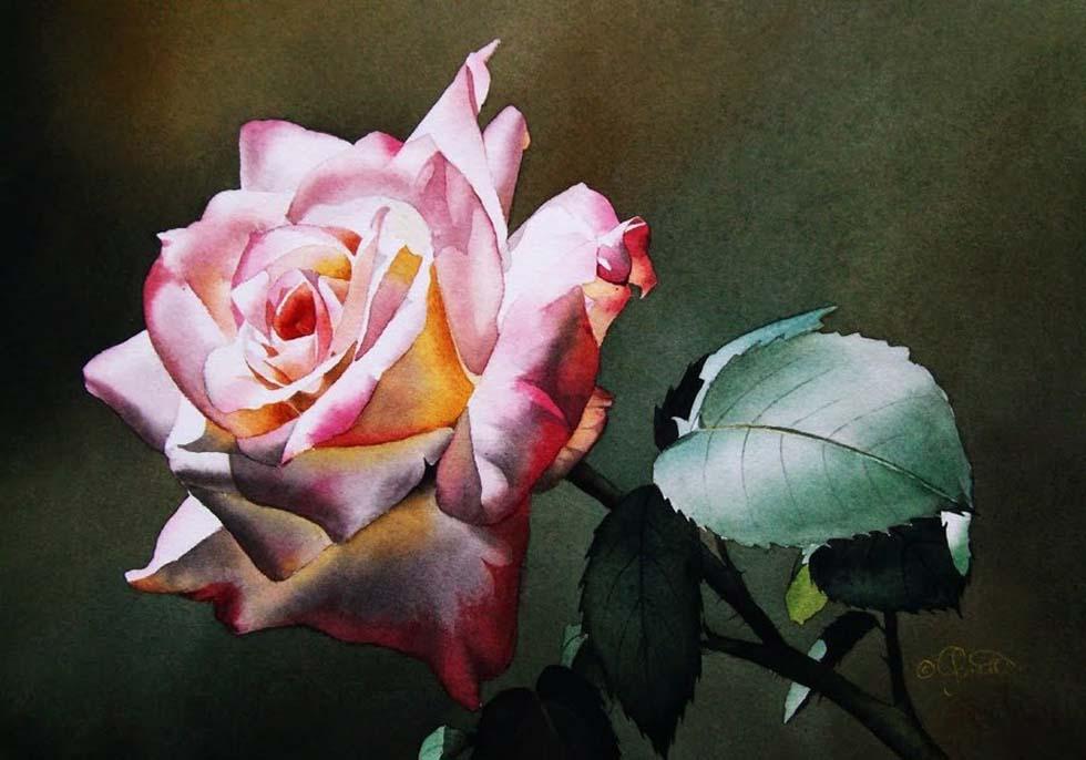 watercolor painting jacqueline