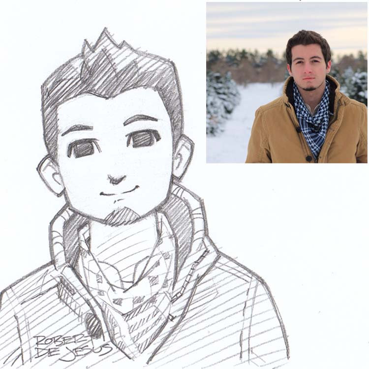 anime drawing robert