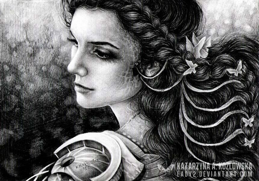 realistic drawing katarzyna