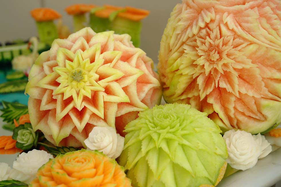 vegetable carvings