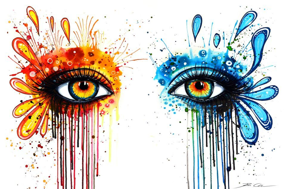 colorful eye watercolor painting svenja