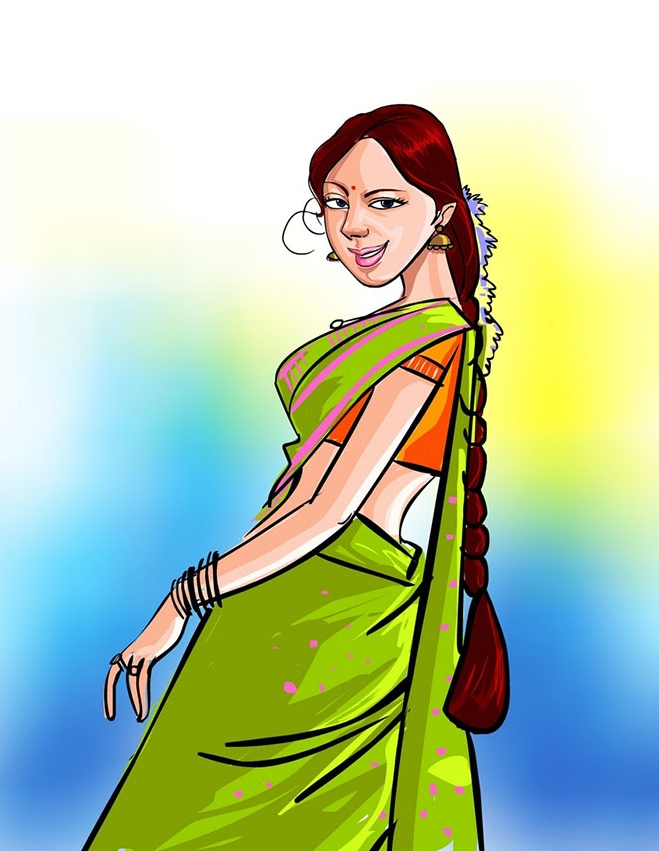 homely-woman-drawing-suresh