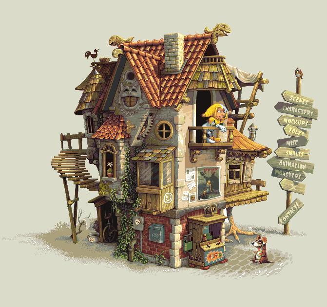 house illustration foolstown