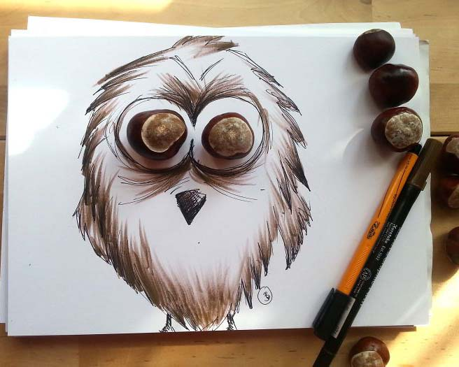 owl creative illustration ali