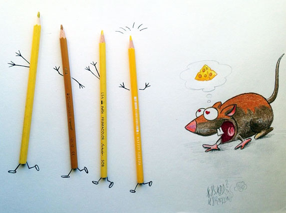 pencil creative illustration ali