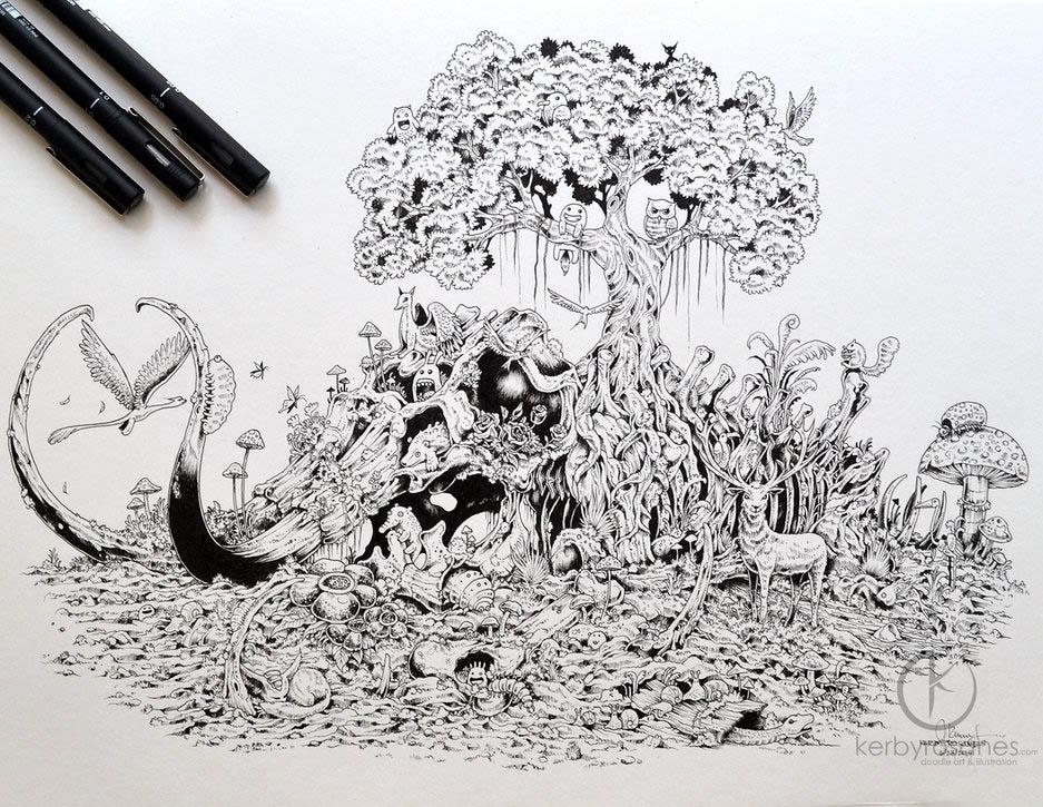 tree mural kerby