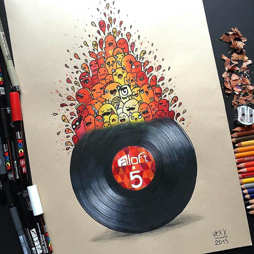 doodle art by vince okerman