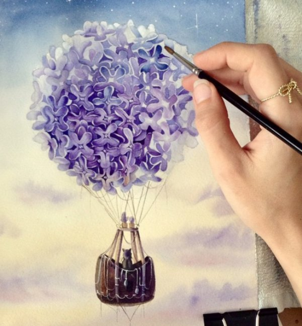 1 watercolor paintings by elena