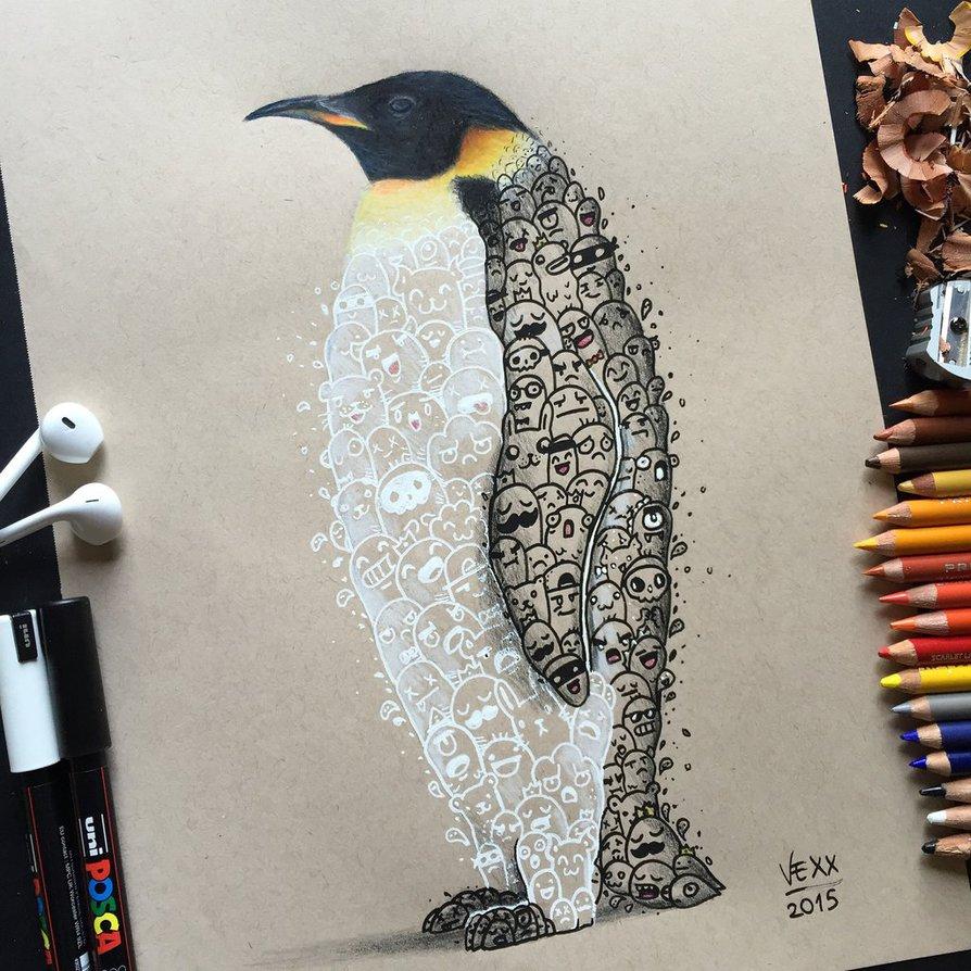 12 doodle art by vince okerman